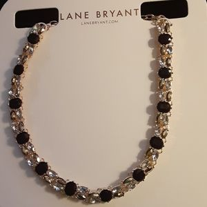 LANE BRYANT GOLD AND BLACK STATEMENT NECKLACE